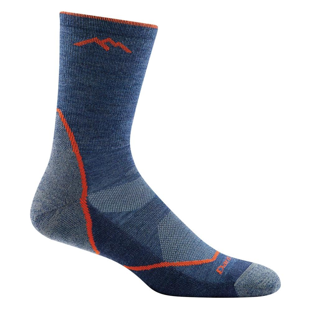 Darn Tough Light Hiker Micro Crew Cushion Mens Socks Walking Denim All Sizes